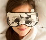 Black ink therapeutic eye pillow